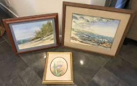 LOT OF THREE BEAUTIFUL PAINTING OF NATURE, FRAMED AND READY TO HANG
