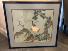 VINTAGE ART FROM 1978 B.F.M ONSTRAGE PAINTING FRAMED 31.5x29.5""