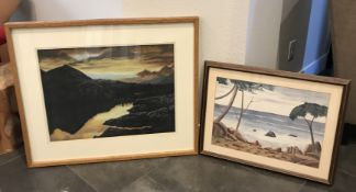 LOT OF TWO STUNNING LANDSCAPE PAINTINGS WITH WOOD FRAMES