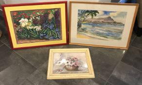 LOT OF THREE BEAUTIFUL FRAMED NATURE PAINTINGS