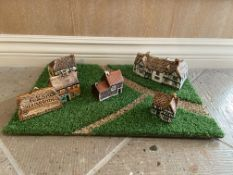 Large Collection of Tey Pottery Miniature Country Side Collection 7 Piece, Norfolk, England