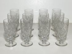 Set of 12 Crystal Glasses, Tall