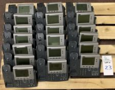 19 CISCO PHONE SYSTEMS - MODEL 7940 ALL ITEMS ARE SOLD AS IS UNTESTED BUT CAME FROM A WORKING