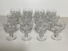 Set of 12 Crystal Glasses, Wine Goblets