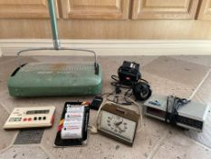 Vintage Collection of Electronics and Home Items (Incuding Bissell Flight Broom, Alarms, Etc)