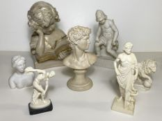 7 Bust Forms and Sculptures - Greece, Roman Theme
