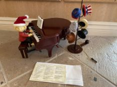 'Mr Christmas Teddy Takes Requests' Animated Piano Bear, Musical Hats, 60 Songs