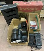 ViewSonic Monitor in Box, Altec Lansing Speakers, Software, Receipt Printers, Etc