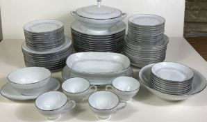 Large 80 Piece Set of Noritake China Japan Amy 2154, Amazing Condition