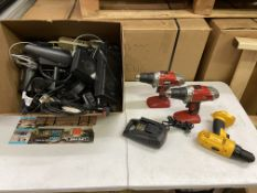Power Drills (Skil and CDW), Logitech Speakers, Cables Etc