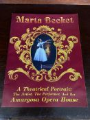 Marta Becket Signed Opera House Book