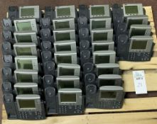 28 CISCO PHONE SYSTEMS - MODEL 7941 ALL ITEMS ARE SOLD AS IS UNTESTED BUT CAME FROM A WORKING