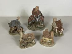 5 David Winter English Countryside Houses/Building Sculptures