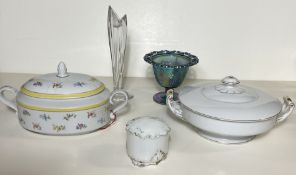 5 China Bowls and Decorative Sculptures, SGK and Sigma Bowls Etc