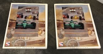 LOT OF TWO  AUTHENTIC 1997 OFFICIAL PROGRAMS FOR THE INDIANAPOLIS 500 FROM MAY 30, 1999  PEP BOYS