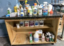 CABINET WITH ALL CHEMICALS / PRODUCTS INCLUDED