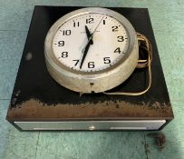 POS CASH DRAWER + VINTAGE ELECTRIC CLOCK