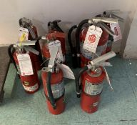 9 CURRENT READY TO USE FIRE EXTINGUISHERS FULL