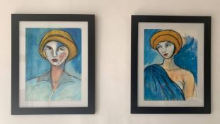 2 MIAMI ARTIST SIGNED PAINTINGS 2010