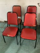 4 RETRO VINTAGE KITCHEN TABLE CHAIRS