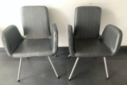 2 SILVER RETRO VINTAGE STYLE SEATING LIVING ROOM CHAIRS PAID $700 FOR THESE ORIGINALLY