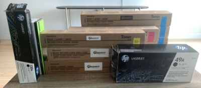 LARGE LOT OF TONER AND PRINTER INK