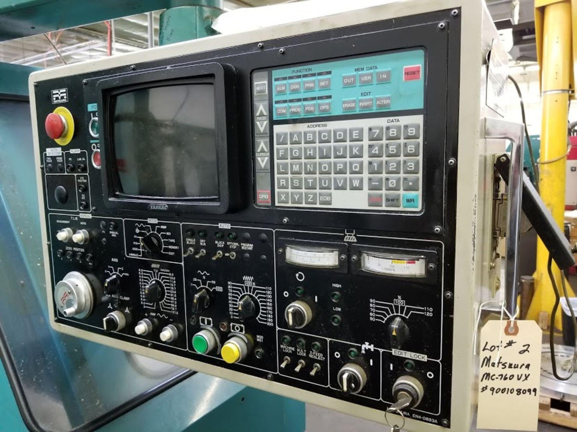 Lot 2 - Matsuura MC-760 VX CNC Vertical Machining Center - YASNAC Controls