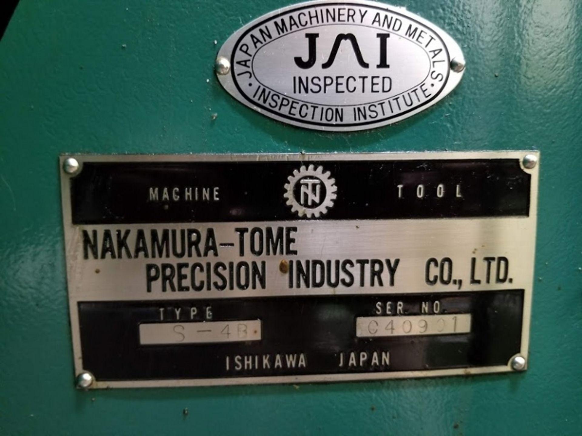 Lot 11 - Nakamura Tome Slant 4 CNC Turning Center with Fanuc 11T Controls SB-4 Serial # C40901