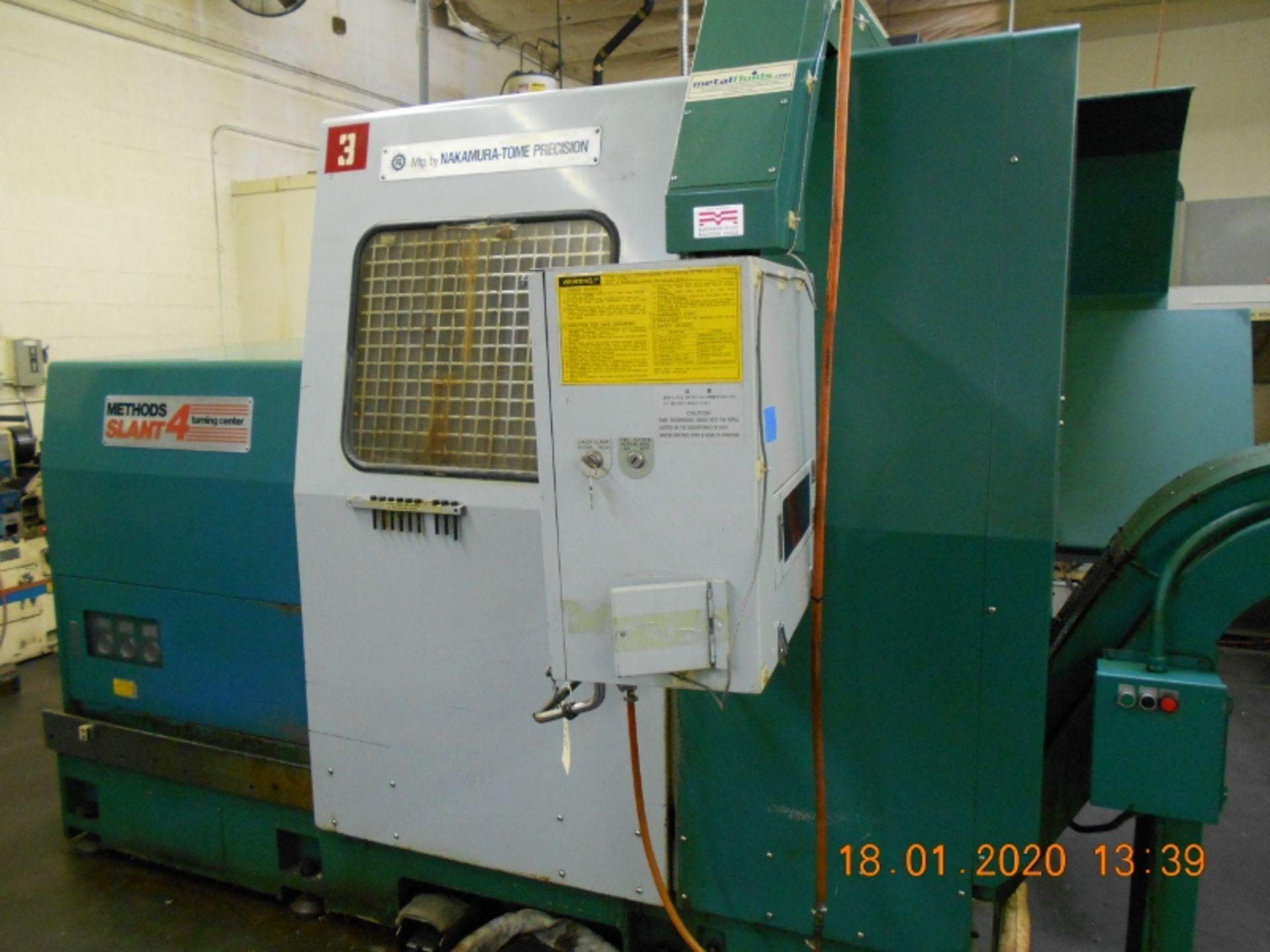 Lot 8 - Nakamura Tome Slant 4 CNC Turning Center with Fanuc 11T Controls SB-4 Serial # C44002