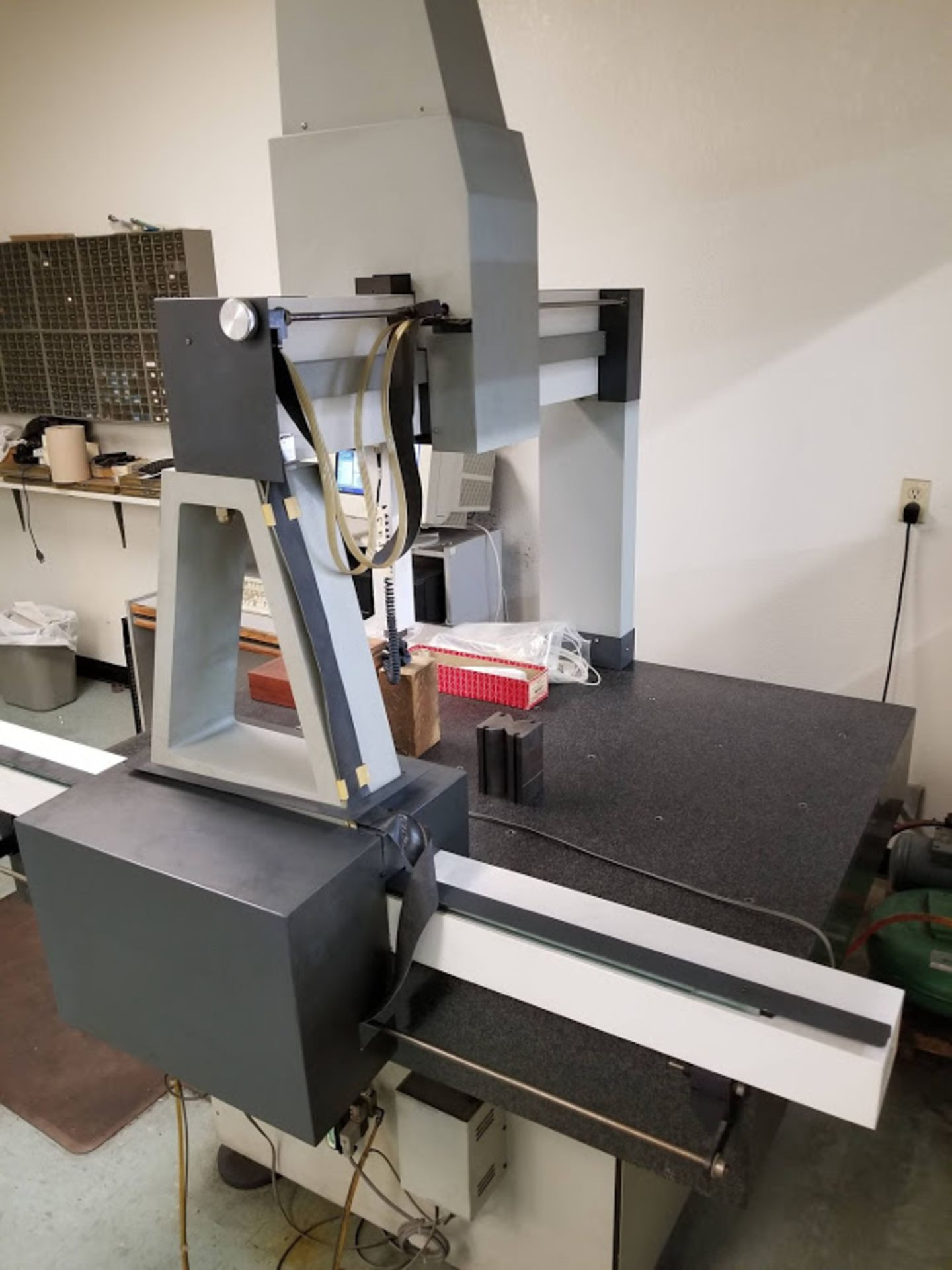 Lot 7A - CMM Coordinate Measuring Machine with computer, tanks & misc.