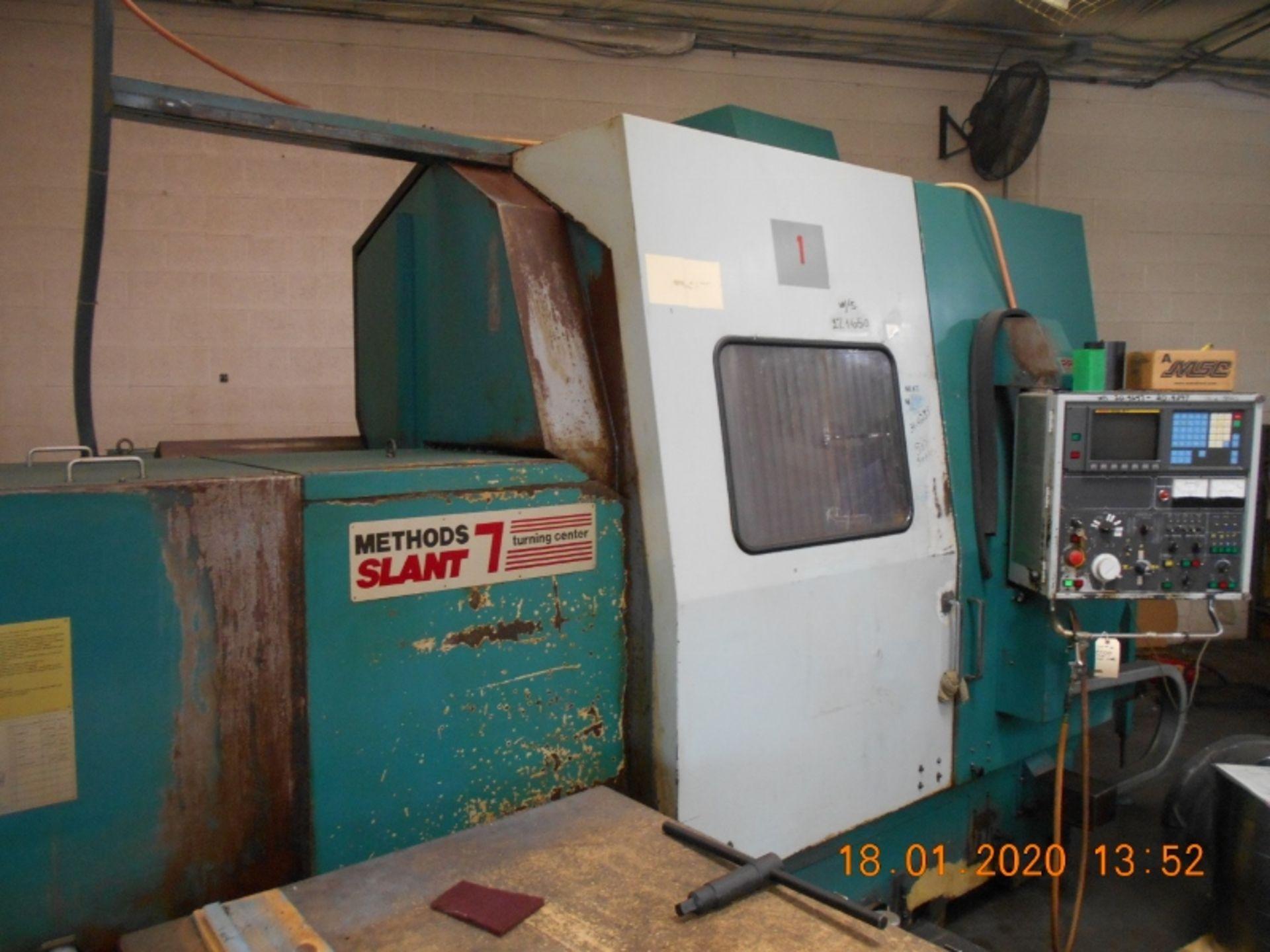 Lot 16 - Nakamura Slant 7 CNC Lathe Fanuc 15-T Controls