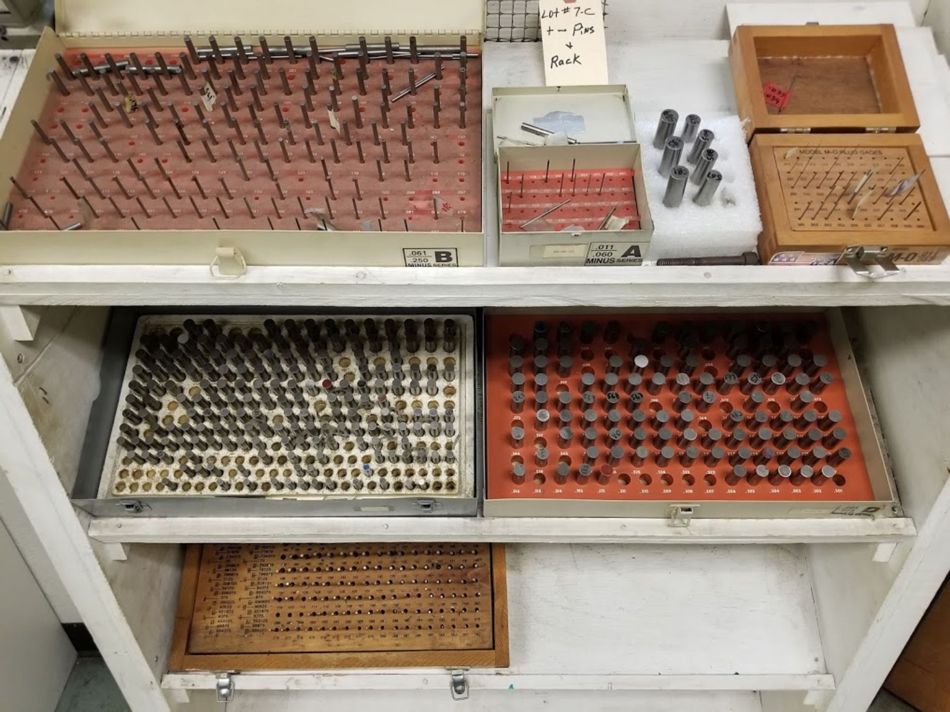 Lot 7C - Rack with Sheves of + - Pins