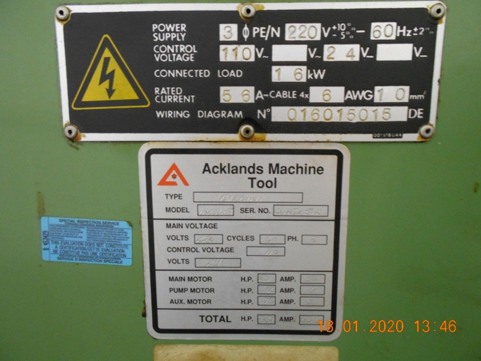 "Lot 13 - Nardini Engine Lathe IN 2560T 25"" x 60"" with stready rest & chucks"