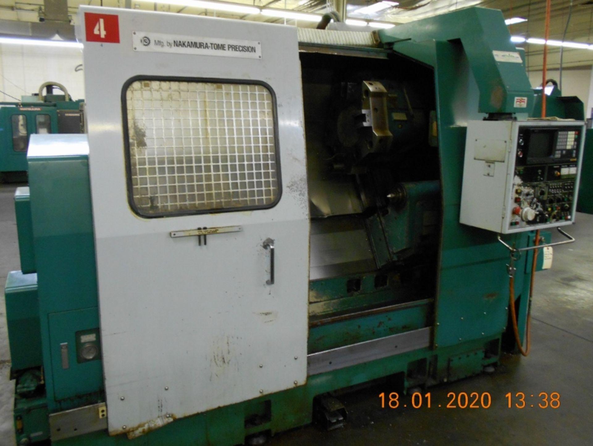 Lot 6 - Nakamura Tome Slant 4 CNC Turning Center with Fanuc 11T Controls SB-4 Serial # C43701