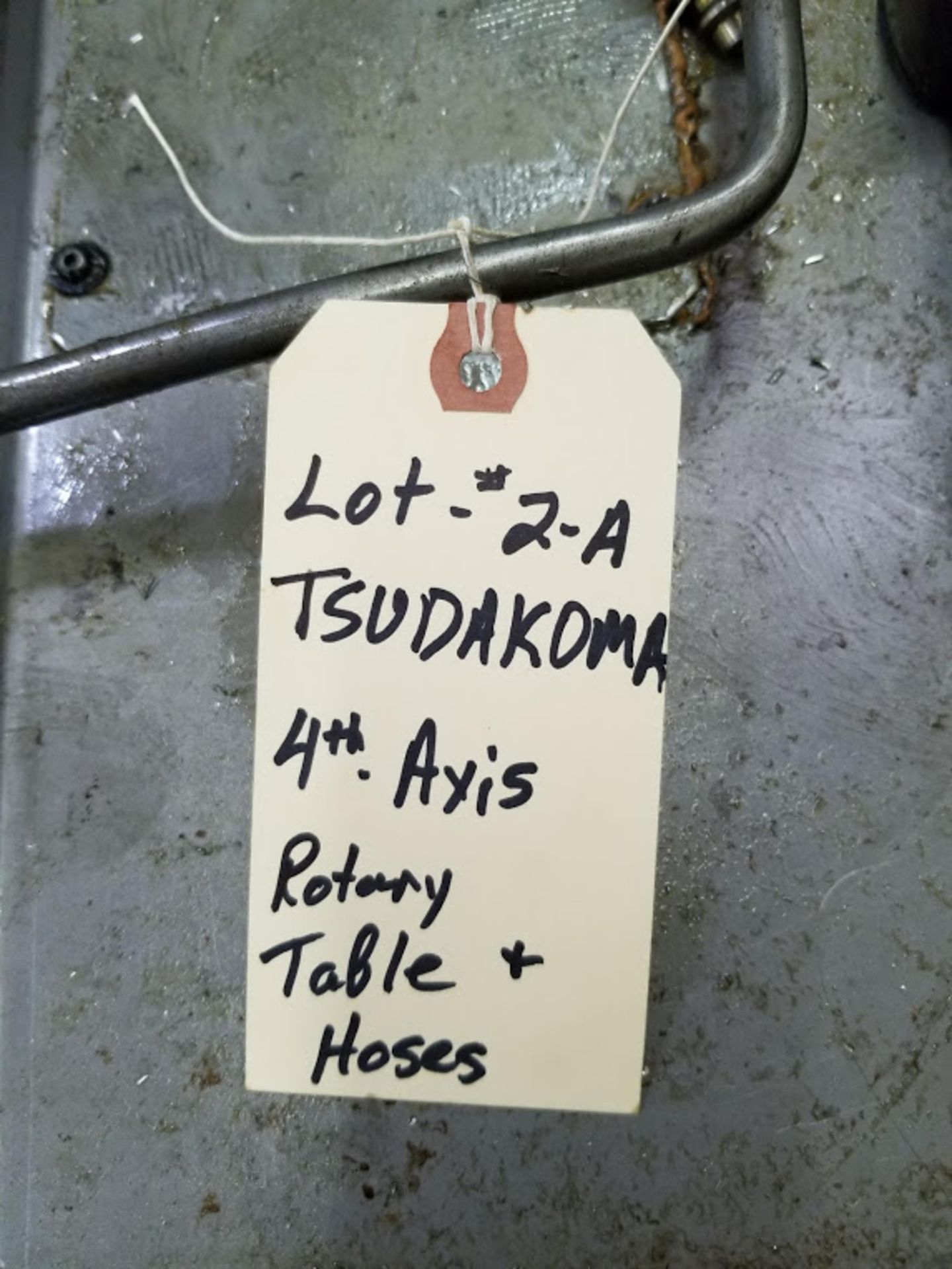 Lot 2A - TSUDAKOMA 4th Axis Rotary Table wih hoses