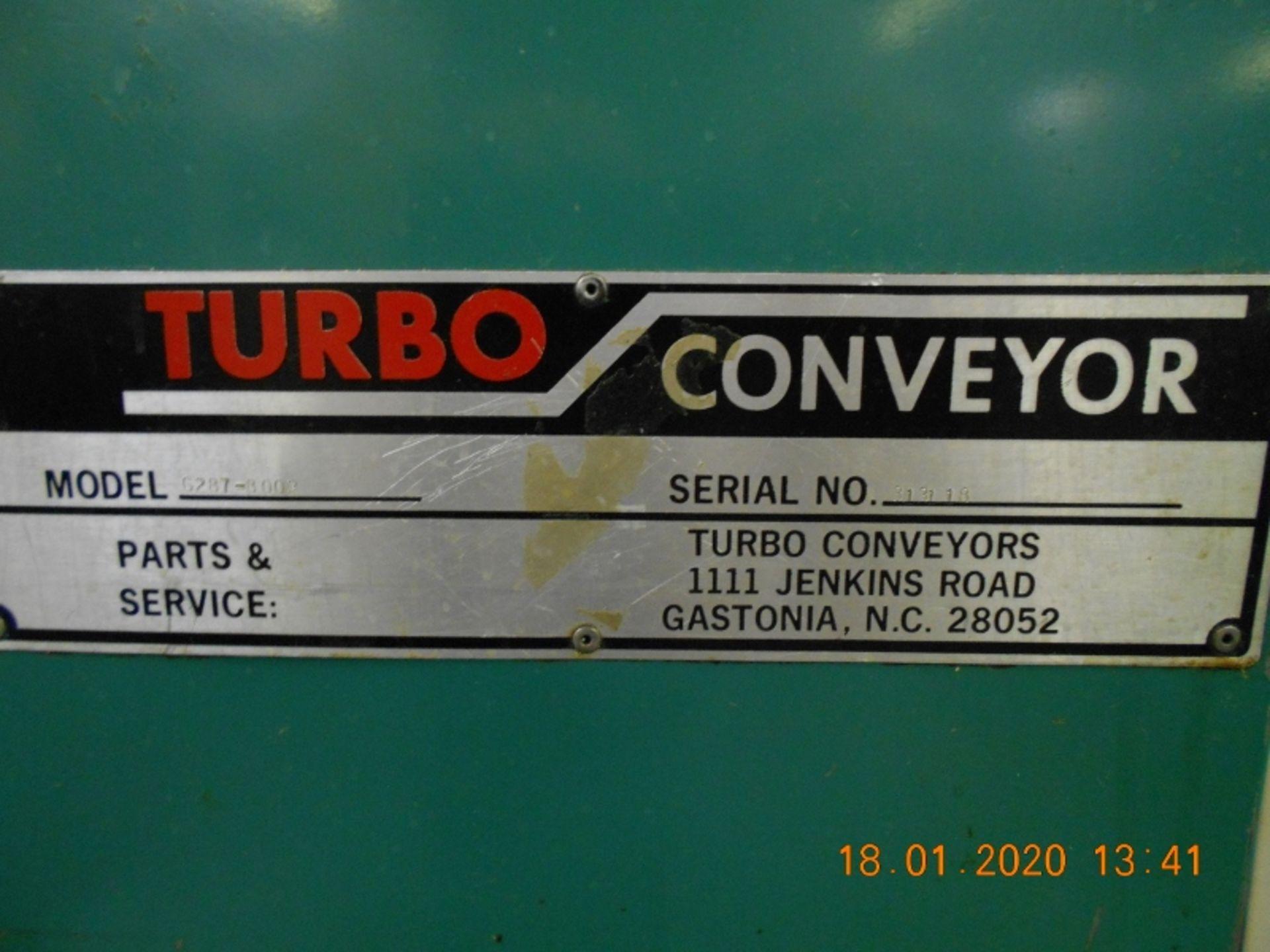 Lot 9 - Turbo 6287-8002 Incline Chip Conveyor Serial #313118