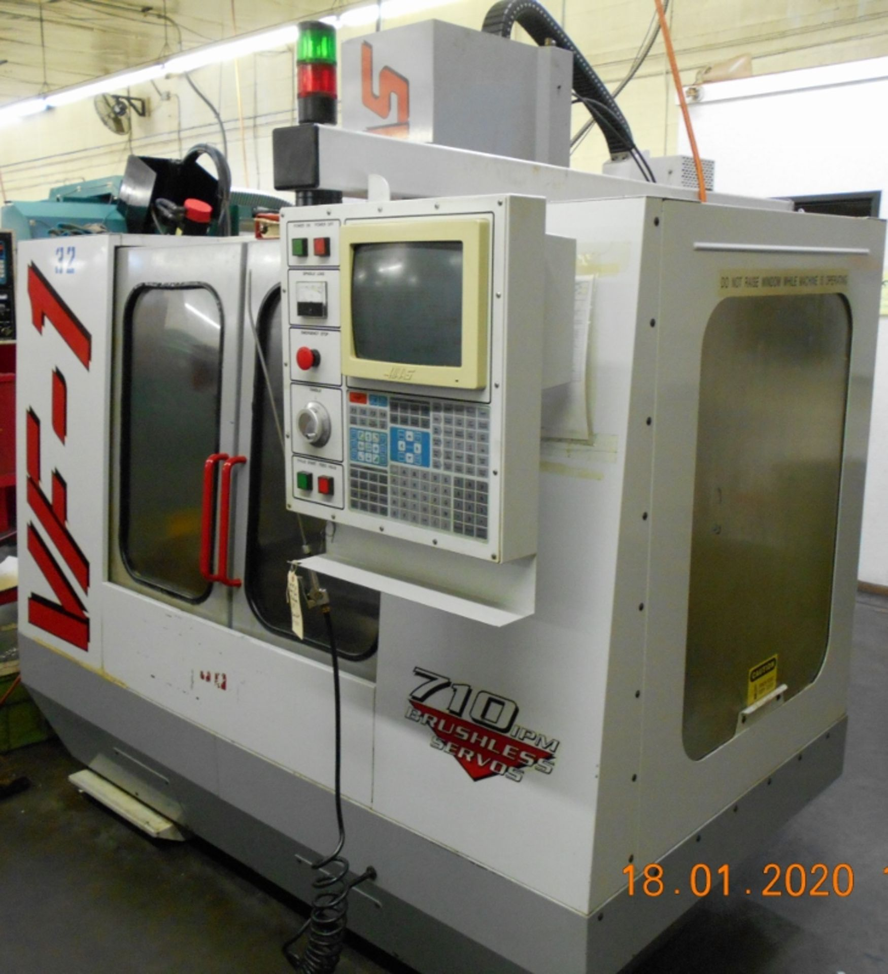 Lot 4 - Haas CNC Vertical Machining Center (VMC) VF-1 Serial #8900