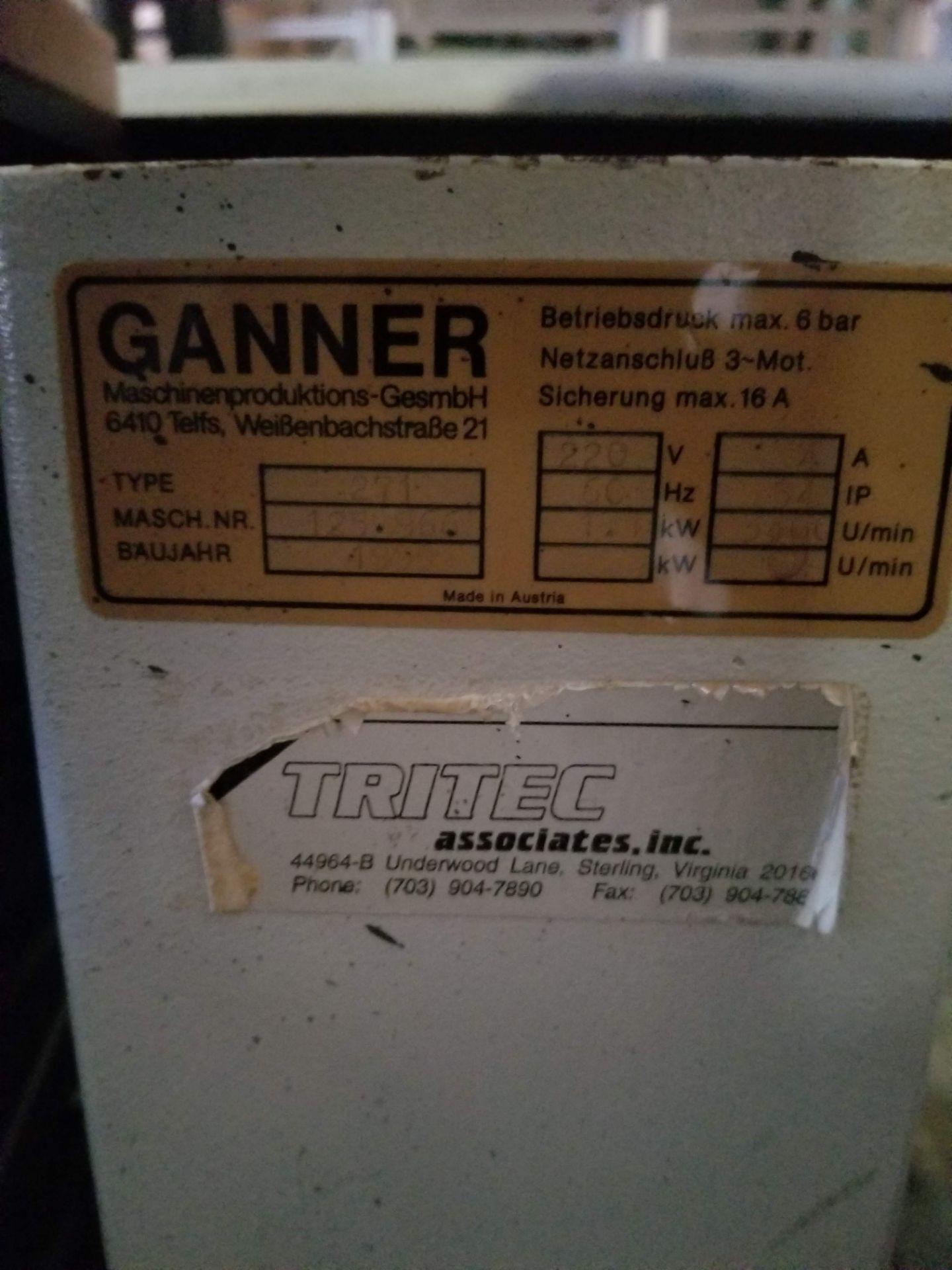 Lot 14 - Gannomat Hinge Boring Machine, Type #271 1.5 hp, 3ph, Hinge drilling and insertion machine. Equipped