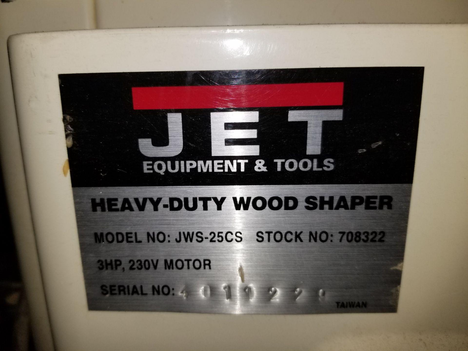 Jet 3hp Wood Shaper, Model # JW5-25CS, 3 Hp 220V 1ph - Image 6 of 8