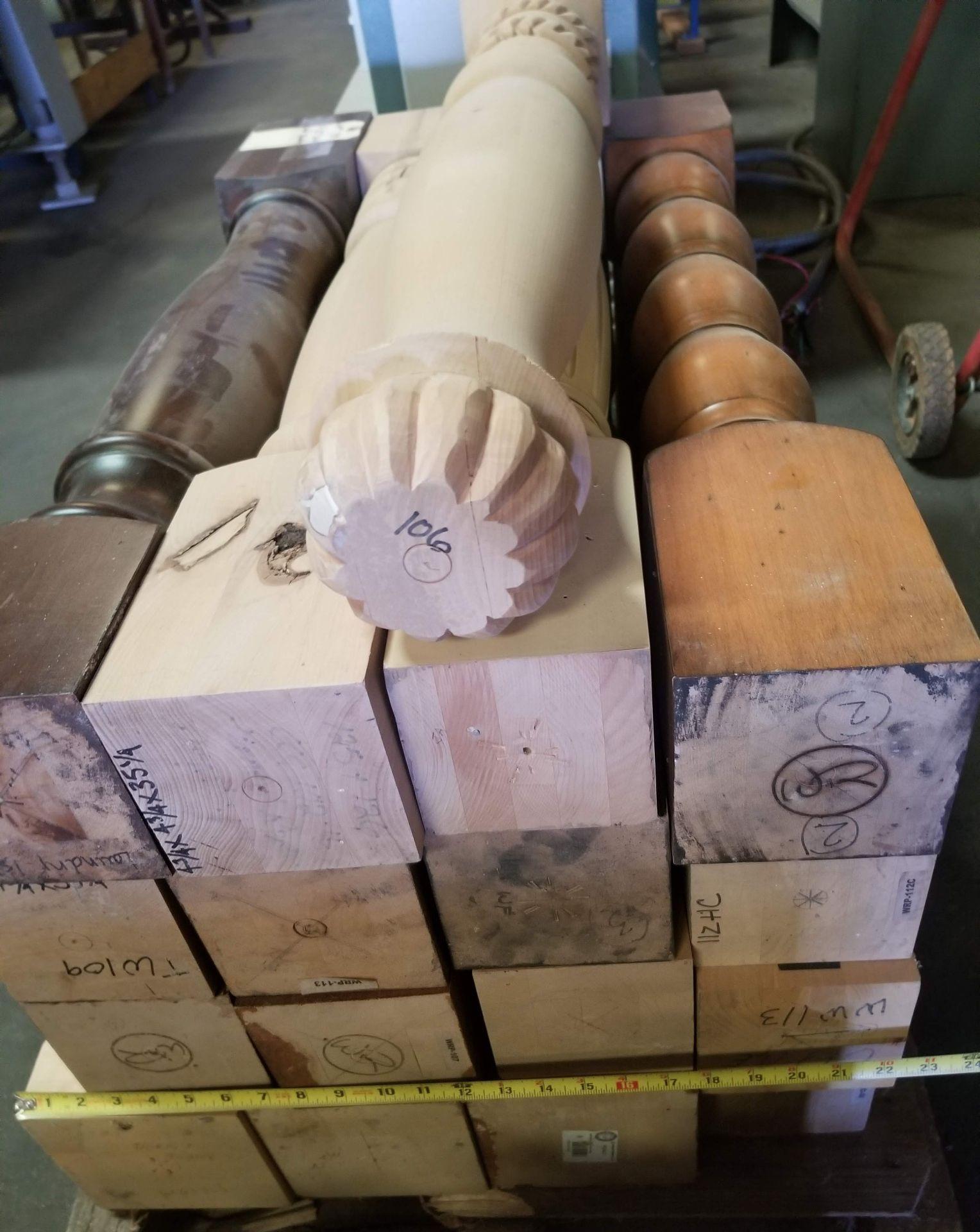 """Lot 38 - 17 - 35"""" Solid Fancy Hardwood Spindles"""