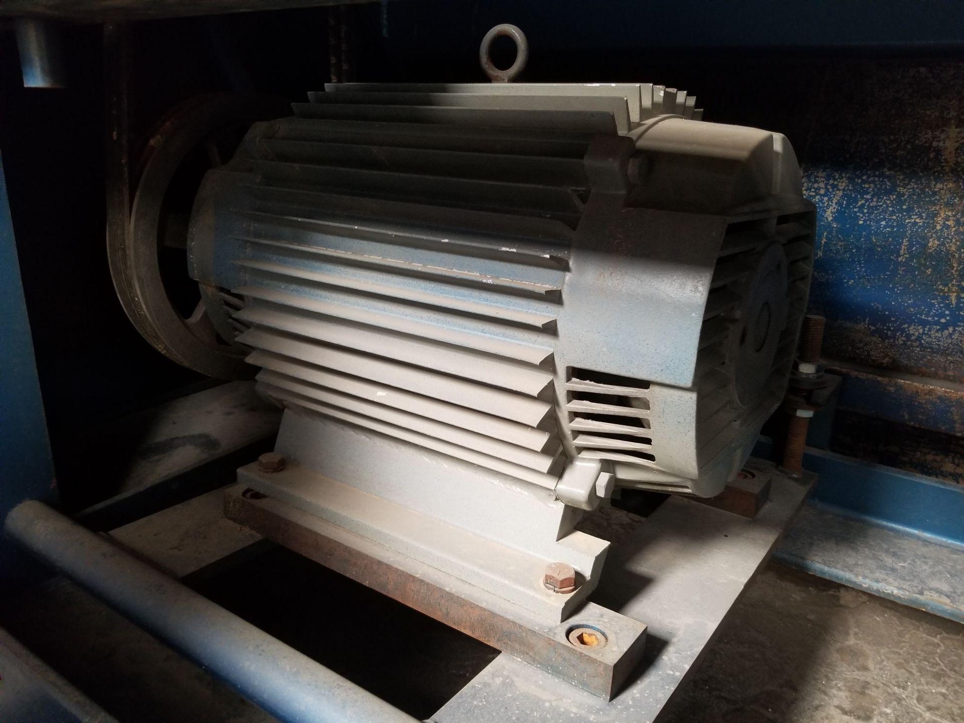 "Lot 6 - AEM 36"" wide belt sander, Model #3675, 36""x75"" belt size 30hp 230/460V, 2HP infinitely variable feed"