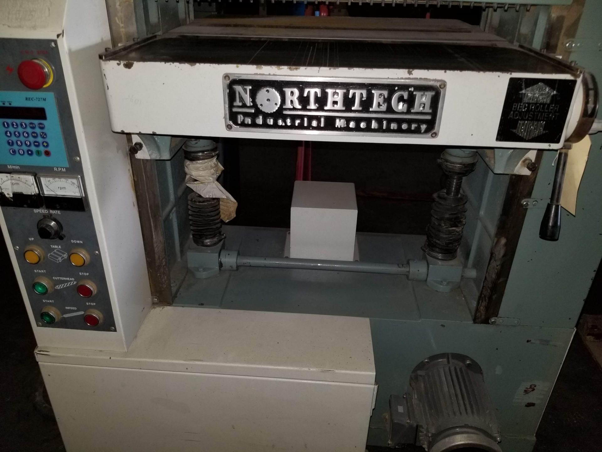"Lot 37 - North Tech 24"" Helical Cutter Head Spiral Planer, Model # NT-24HCVS-XL, 15hp 230V 3ph, DC variable"
