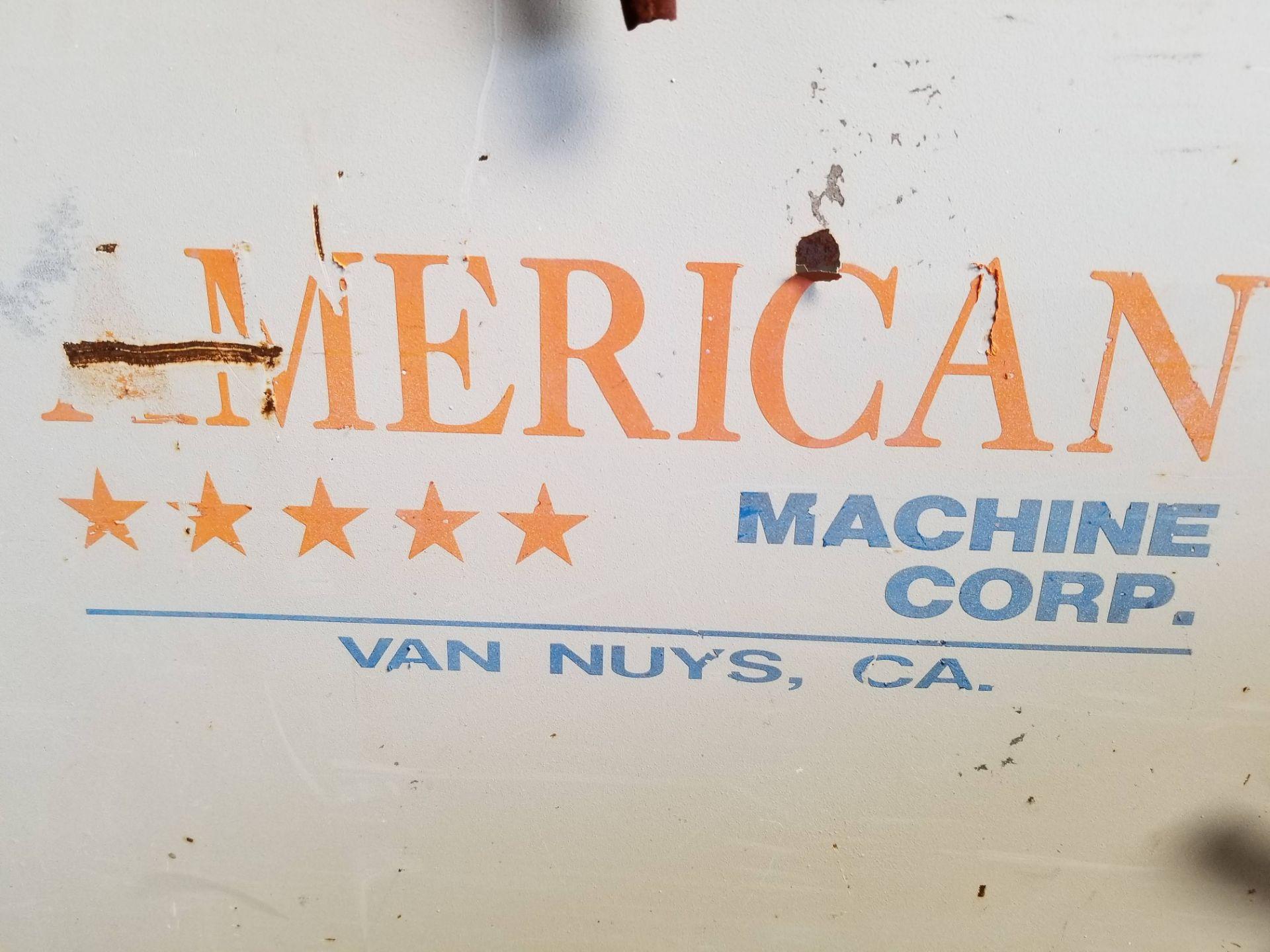 Lot 2 - American Machine Corp 6 head moulding sander, 7 - Baldor 220V 3ph Motors, Model #LFN4066TR, with a
