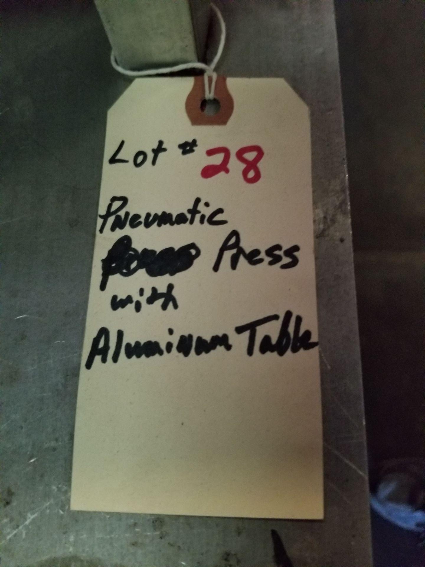 Pnuematic Press w/ Aluminum Table - Image 5 of 5