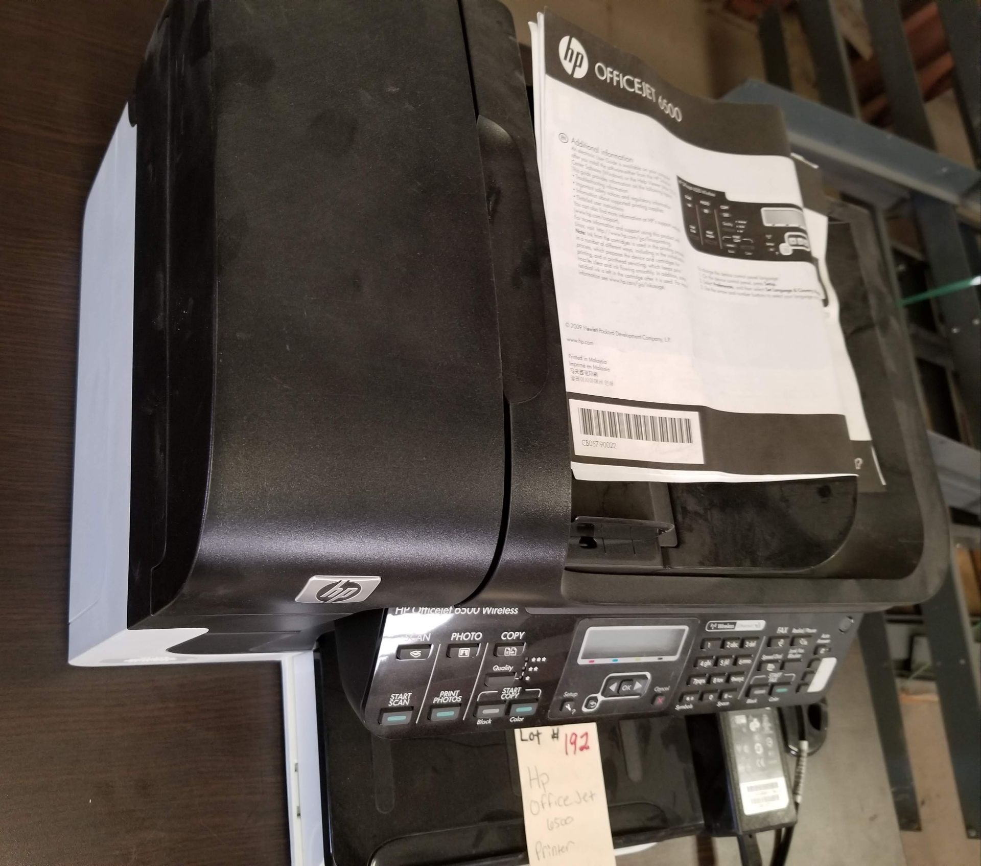 Lot 192 - HP Office Jet 6500 Printer