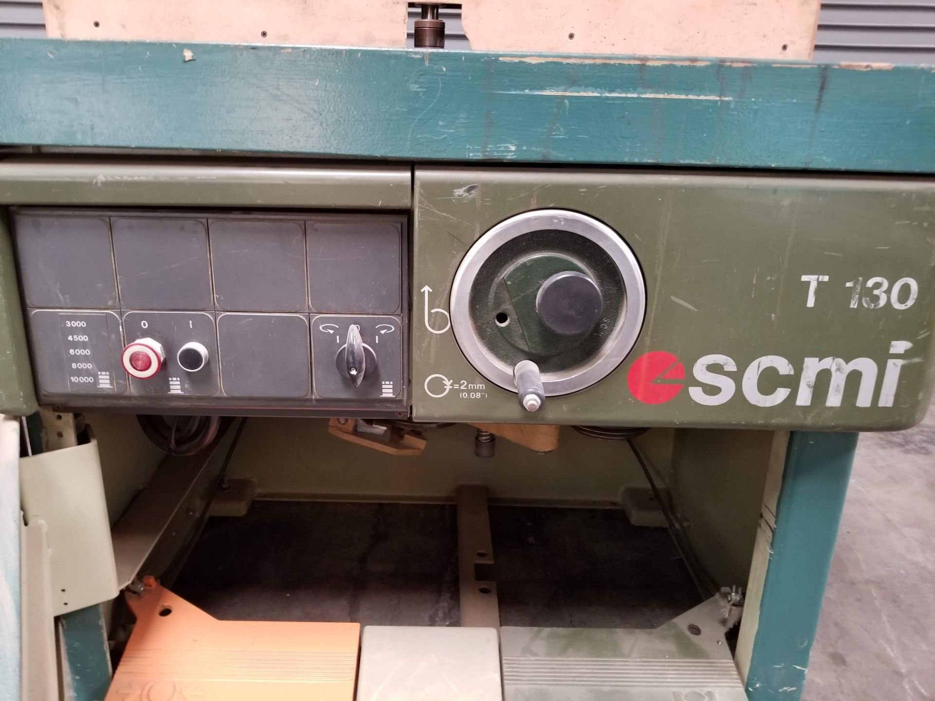 """Lot 5 - SCMI T130N Wood Shaper, 7.5hp 230V 3ph, 28"""" x 47"""" table size, features five spindle feeds of 3000,"""