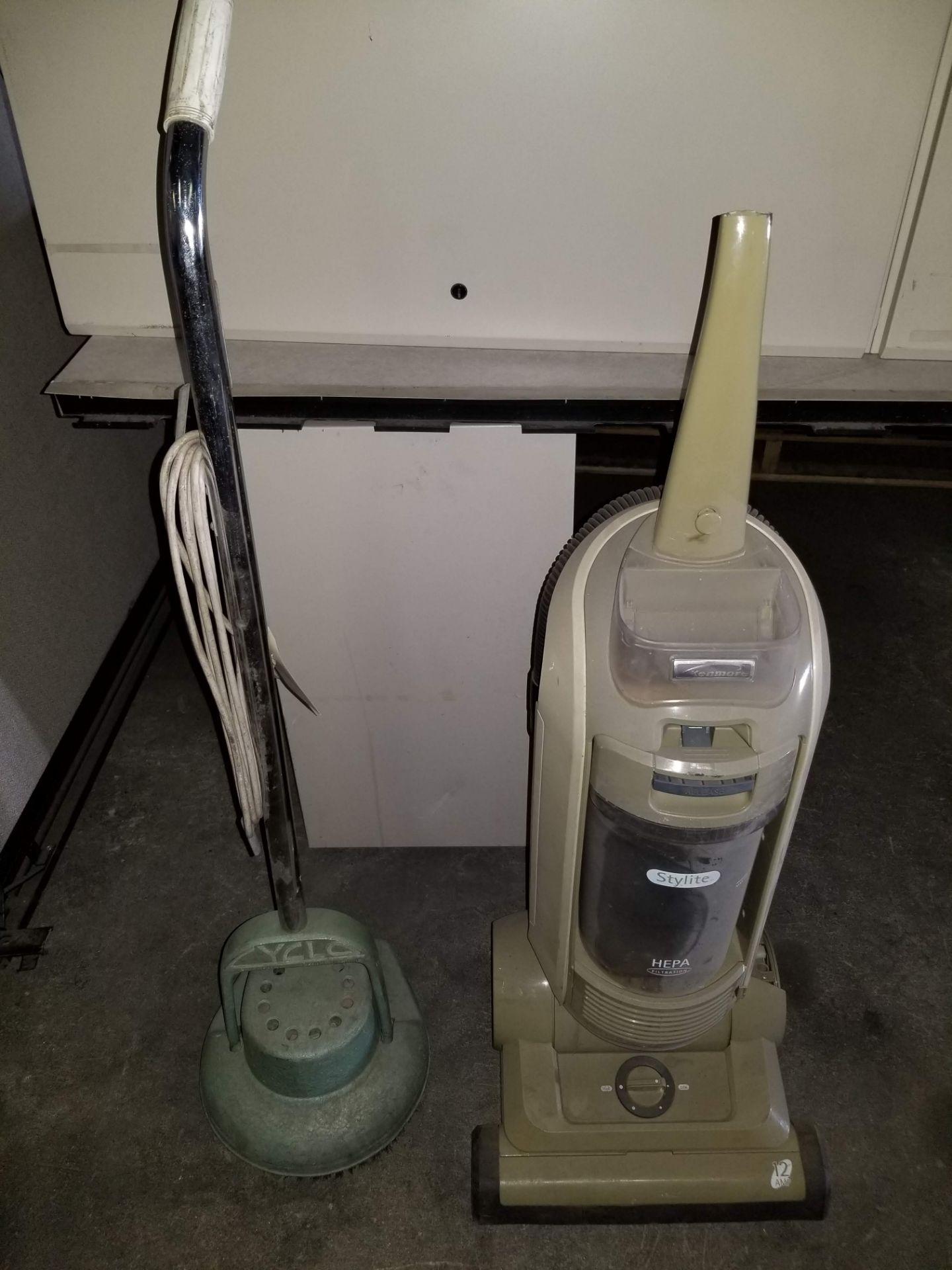 Lot 46 - Cyclo HD Floor Machine, Model # 350, 115V & Kenmore Stylite Hepa Filtration Vacuum Cleaner