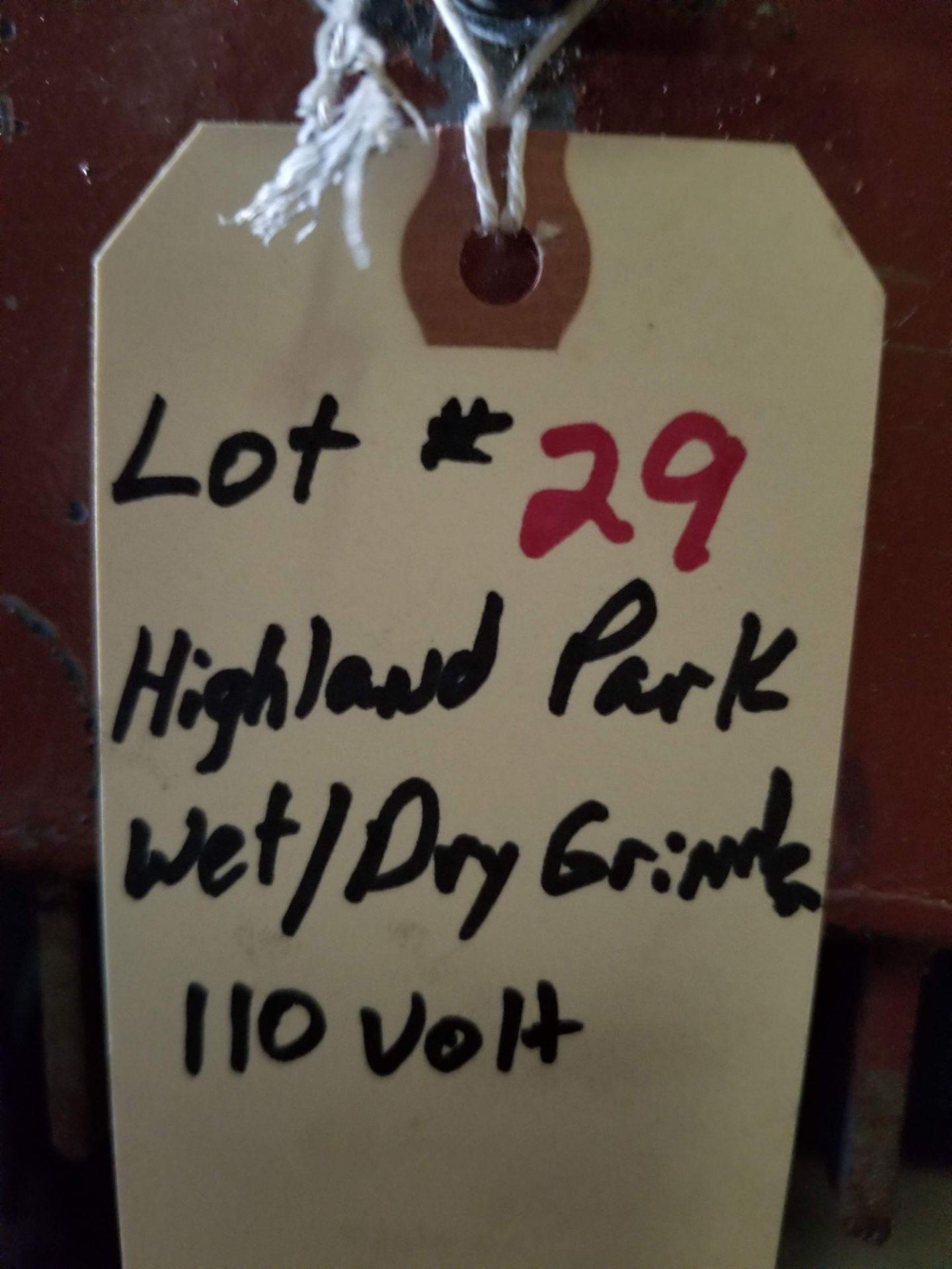 Highland Park Wet/Dry Grinder on stand, 110V - Image 4 of 4