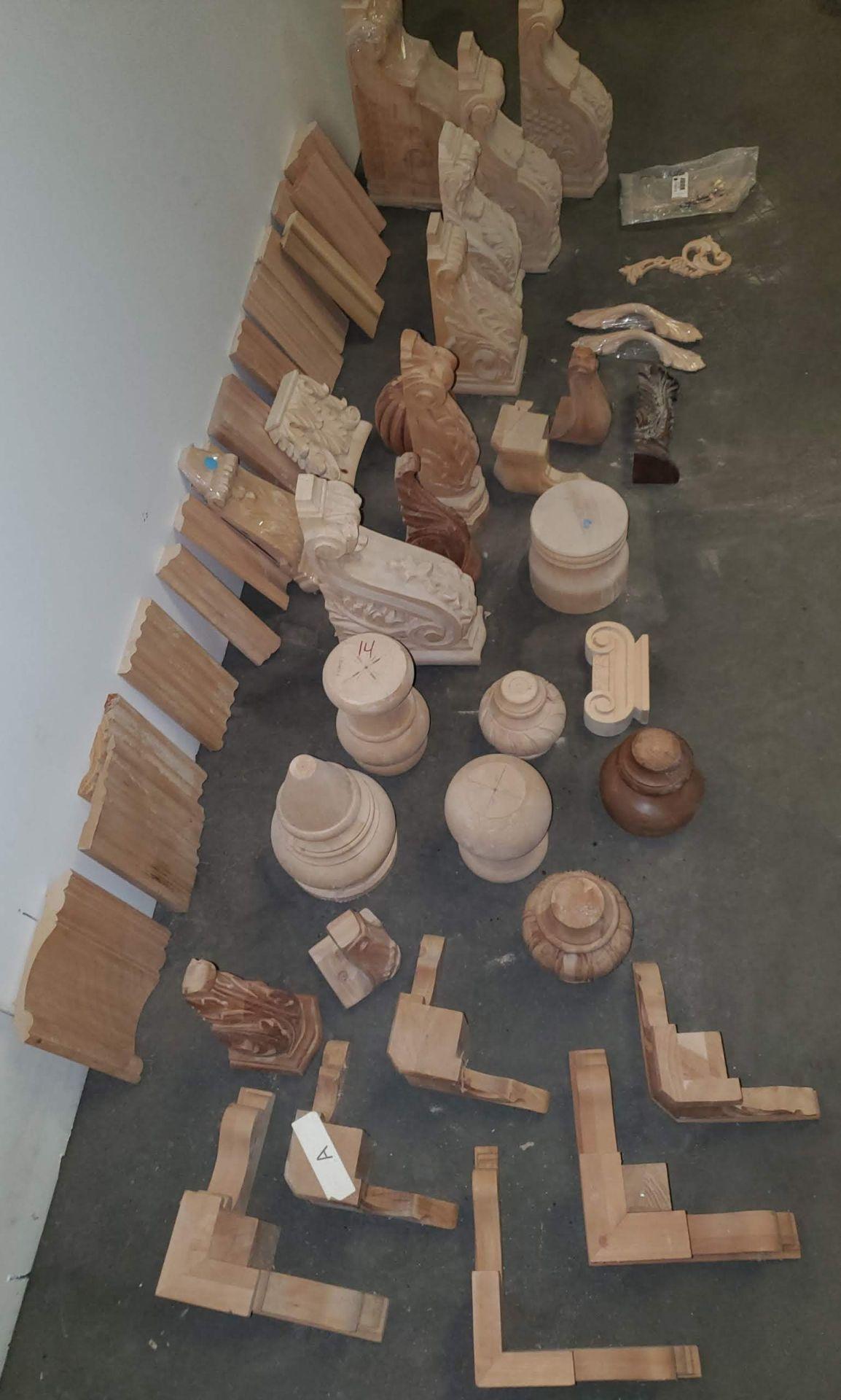 Lot 40 - Pallet of Misc. Hardwood Corbels