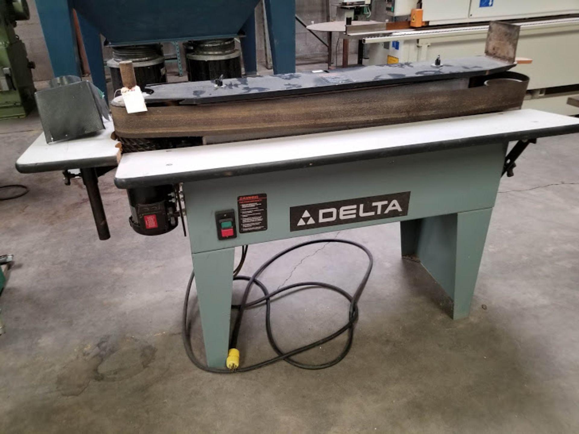 "Lot 24 - Delta 6"" x 132"" Edge Sander, Model #31-391, 3 HP 230 volt 3 phase"
